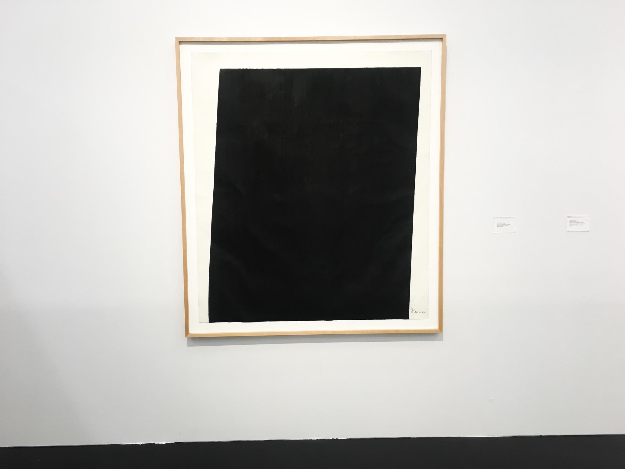 "Richard Serra, 1984 – ""Tujunga Blacktop"""