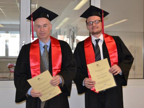 Prof. Dr. Martin Welker (links, mit Prof. Dr. Rühle)