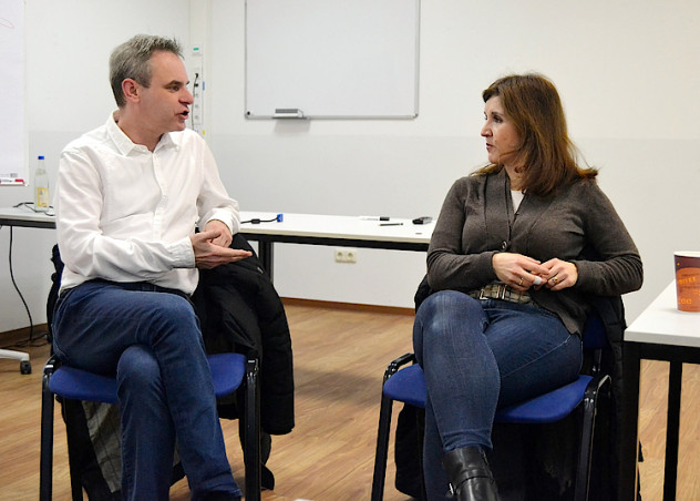 Prof. Dr. Frank Überall mit der Kölner Ratspolitikerin Teresa de Bellis.