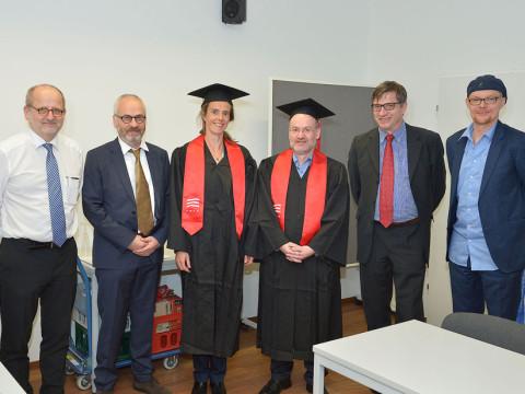 Die frischgebackenen Professor/innen mit der Hochschul- und Fachbereichsleitung
