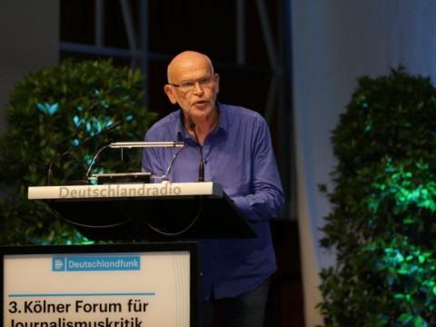 G. Wallraff beim Kölner Forum (Foto: DFL/Fürst-Fastré)